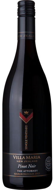 VillaMaria SingleVineyard Marlborough Attorney Organic PinotNoir 2013